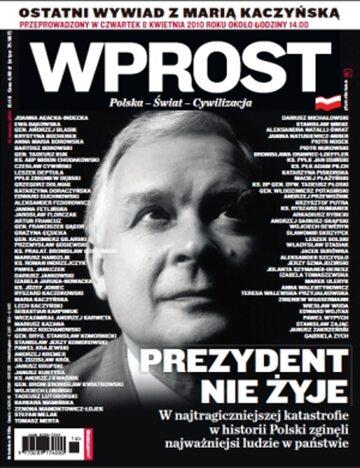 Okładka tygodnika Wprost nr 15/2010 (1419)