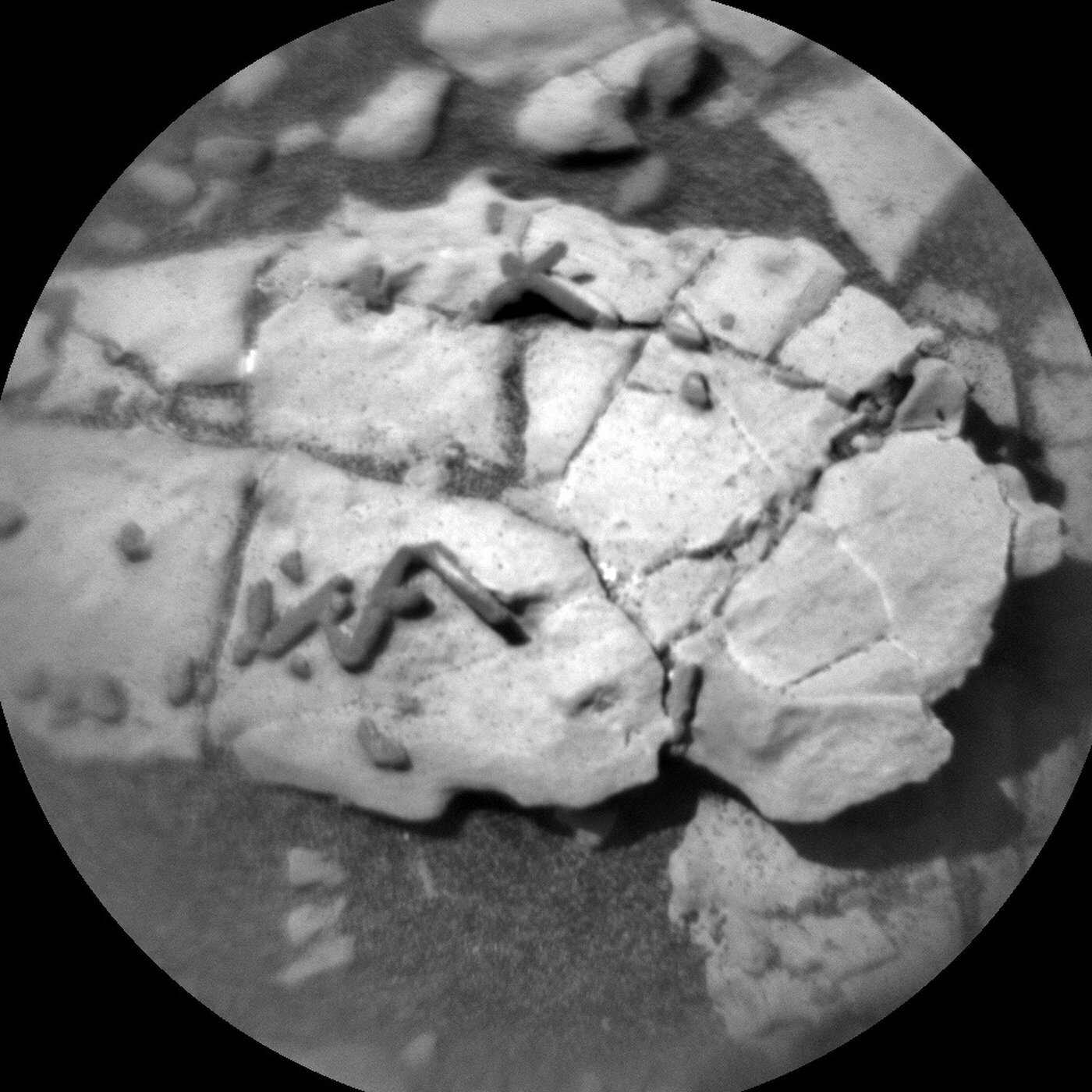 Fragment skalny z Marsa