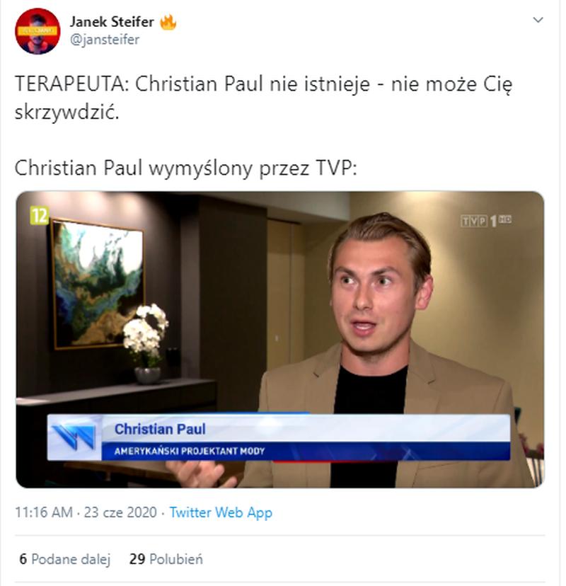 """Christian Paul w """"Wiadomościach"""". Internet reaguje"""