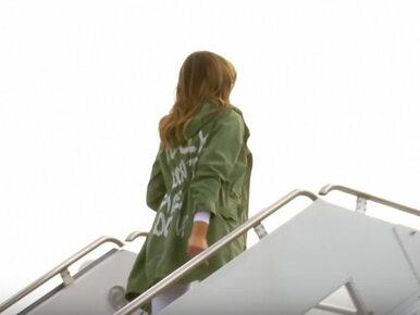Strój Melanii Trump wywołał oburzenie. Co miał znaczyć ten napis?