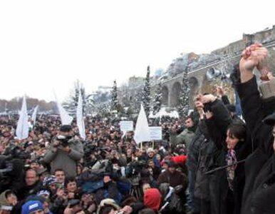 Manifestacja przeciw zwycięstwu Saakaszwilego